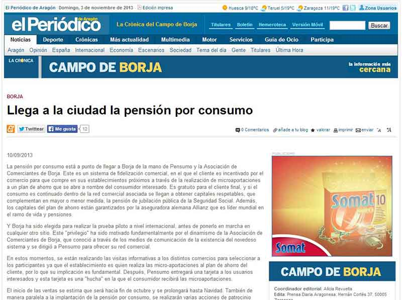 La cronica llega a la ciudad pension por consumo