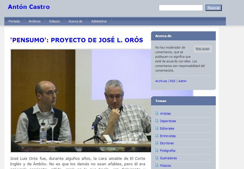 Articulo Antón Castro Pensumo